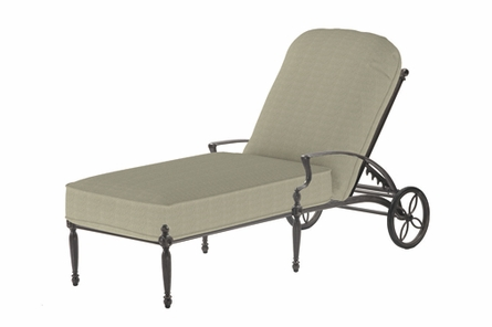 Bel Air By Gensun Luxury Cast Aluminum Patio Furniture Chaise Lounge