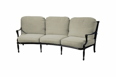 Bel Air By Gensun Luxury Cast Aluminum Patio Furniture Curved Sofa