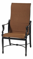 Bel Air By Gensun Luxury Cast Aluminum Patio Furniture High Back Padded Sling Dining Chair