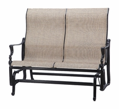 Bel Air By Gensun Luxury Cast Aluminum Patio Furniture High Back Sling Loveseat Glider