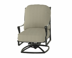 Bel Air By Gensun Luxury Cast Aluminum Patio Furniture High Back Swivel Club Chair