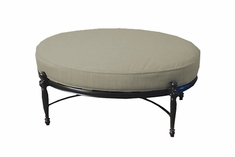 Bel Air By Gensun Luxury Cast Aluminum Patio Furniture Oval Ottoman