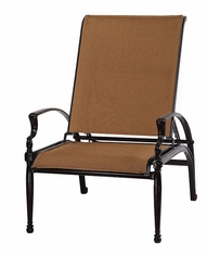 Bel Air By Gensun Luxury Cast Aluminum Patio Furniture Padded Sling Reclining Chair