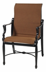 Bel Air By Gensun Luxury Cast Aluminum Patio Furniture Padded Sling Standard Back Chair