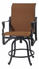 Bel Air By Gensun Luxury Cast Aluminum Patio Furniture Padded Sling Swivel Balcony Stool