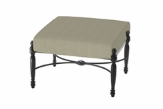 Bel Air By Gensun Luxury Cast Aluminum Patio Furniture Square Ottoman