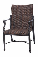 Bel Air By Gensun Luxury Cast Aluminum Patio Furniture Woven Standard Back Dining Chair