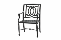 Bel Air By Gensun Luxury Cast Aluminum Patio Furniture Stationary Dining Chair