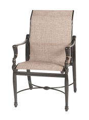 Bel Air By Gensun Luxury Cast Aluminum Patio Furniture Stationary Standard Sling Dining Chair