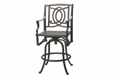 Bel Air By Gensun Luxury Cast Aluminum Patio Furniture Swivel Balcony Chair