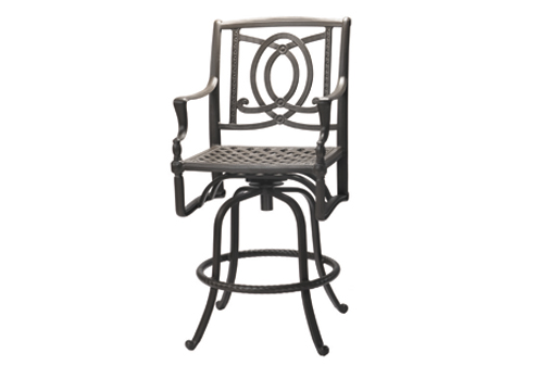 Bel Air By Gensun Luxury Cast Aluminum Patio Furniture Swivel Bar Height  Chair