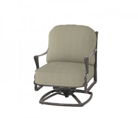 Bel Air By Gensun Luxury Cast Aluminum Patio Furniture Swivel Club Chair