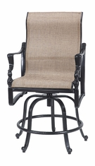 Bel Air By Gensun Luxury Cast Aluminum Patio Furniture Swivel Rocking Balcony Stool
