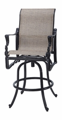 Bel Air By Gensun Luxury Cast Aluminum Patio Furniture Swivel Sling Bar Stool
