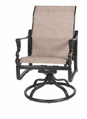 Bel Air By Gensun Luxury Cast Aluminum Patio Furniture Swivel Standard Back Dining Chair