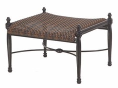 Bel Air By Gensun Luxury Cast Aluminum Patio Furniture Woven Ottoman