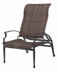 Bel Air By Gensun Luxury Cast Aluminum Patio Furniture Woven Reclining Chair