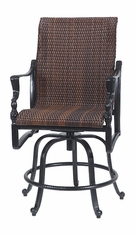 Bel Air By Gensun Luxury Cast Aluminum Patio Furniture Woven Rocking Balcony Stool