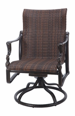 Bel Air By Gensun Luxury Cast Aluminum Patio Furniture Woven Standard Back Swivel Rocker