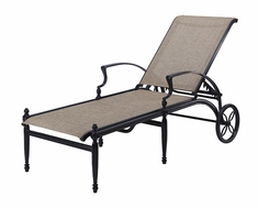 Bel Air By Gensun Luxury Cast Aluminum Sling Patio Furniture Chaise Lounge