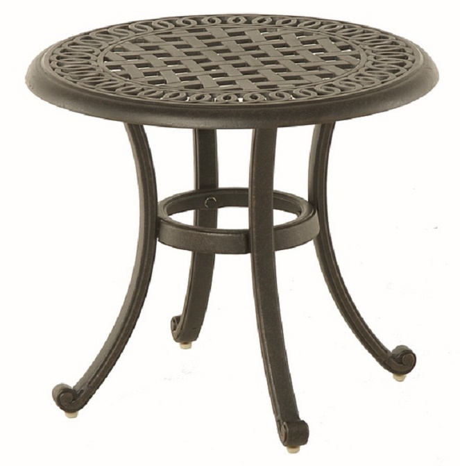 Bella By Hanamint Luxury Cast Aluminum Patio Furniture 21 Round Tea Table