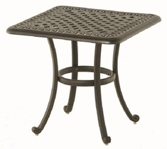 "Bella By Hanamint Luxury Cast Aluminum Patio Furniture 24"" Square End Table"