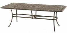 "Bella By Hanamint Luxury Cast Aluminum Patio Furniture 42"" x 84"" Rectangular Dining Table"