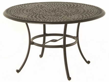 """Bella By Hanamint Luxury Cast Aluminum Patio Furniture 48"""" Round Dining Table"""