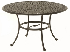 "Bella By Hanamint Luxury Cast Aluminum Patio Furniture 48"" Round Dining Table"