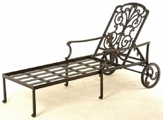 Bella By Hanamint Luxury Cast Aluminum Patio Furniture Chaise Lounge