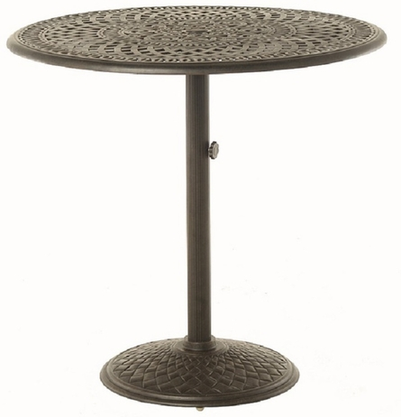 """Bella By Hanamint Luxury Cast Aluminum Patio Furniture 42"""" Round Pedestal Bar Height Table"""