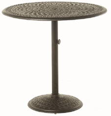 "Bella By Hanamint Luxury Cast Aluminum Patio Furniture 42"" Round Pedestal Bar Height Table"