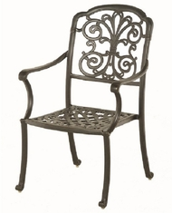 Bella By Hanamint Luxury Cast Aluminum Patio Furniture Stationary Dining Chair