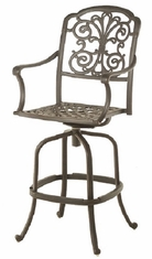 Bella By Hanamint Luxury Cast Aluminum Patio Furniture Swivel Bar Height Chair