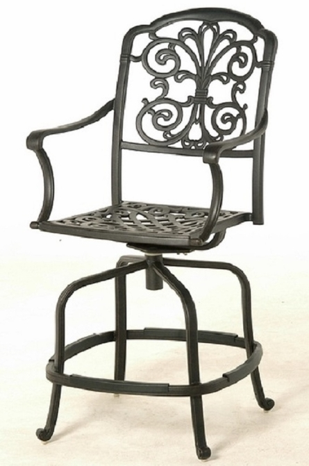 Bella By Hanamint Luxury Cast Aluminum Patio Furniture Swivel Counter Height Chair