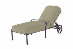 Bella Vista By Gensun Luxury Cast Aluminum Patio Furniture Chaise Lounge