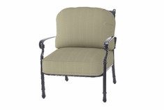 Bella Vista By Gensun Luxury Cast Aluminum Patio Furniture Stationary Club Chair