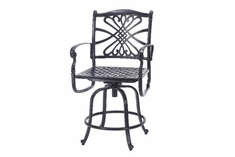 Bella Vista By Gensun Luxury Cast Aluminum Patio Furniture Swivel Balcony Chair
