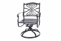 Bella Vista By Gensun Luxury Cast Aluminum Patio Furniture Swivel Dining Chair