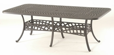 "Berkshire By Hanamint Luxury Cast Aluminum 42"" x 84"" Rectangular Dining Table"