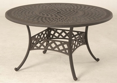 "Berkshire By Hanamint Luxury Cast Aluminum 54"" Round Dining Table W/Inlaid Lazy Susan"