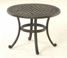 "Berkshire By Hanamint Luxury Cast Aluminum Patio Furniture 24"" Round Tea Table"