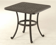 "Berkshire By Hanamint Luxury Cast Aluminum Patio Furniture 24"" Square End Table"