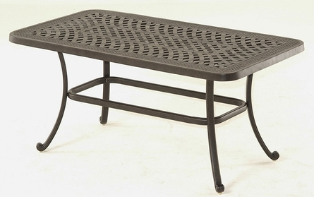 "Berkshire By Hanamint Luxury Cast Aluminum Patio Furniture 26"" x 48"" Rectangular Coffee Table"
