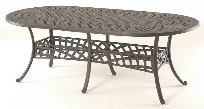 Berkshire By Hanamint Luxury Cast Aluminum Patio Furniture 42 X 84 Oval Dining Table
