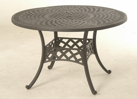 "Berkshire By Hanamint Luxury Cast Aluminum Patio Furniture 48"" Round Dining Table"