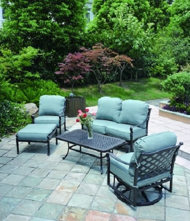 Berkshire By Hanamint Luxury Cast Aluminum Patio Furniture 5 Piece Deep Seating Set