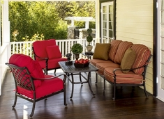 Berkshire By Hanamint Luxury Cast Aluminum Patio Furniture 5-Piece Deep Seating Set W/Sofa