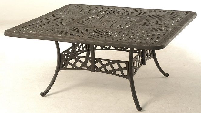 Berkshire By Hanamint Luxury Cast Aluminum Patio Furniture 64 Square Dining Table