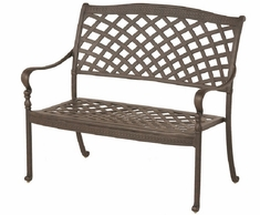 Berkshire By Hanamint Luxury Cast Aluminum Patio Furniture Bench